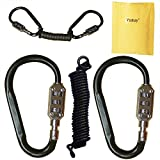 Yuauy 2 pcs Zine-Alloy Black Lock Carabiners Resettable 3 Dial Digit Combination Password