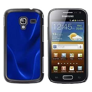 TopCaseStore / la caja del caucho duro de la cubierta de protección de la piel - Dark blue texture - Samsung Galaxy Ace 2 I8160 Ace II X S7560M
