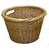 Bakaware Large Wicker Willow Log Carrying Basket Wood Storage With Handles by S&MC Homeware