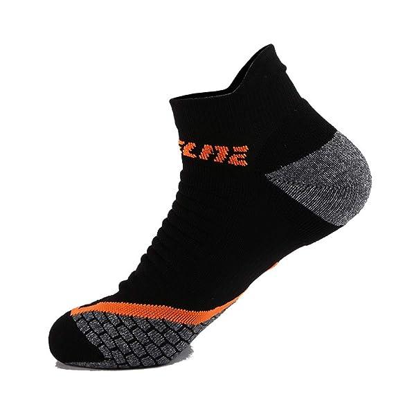 SKNSM Calcetines deportivos para hombres Calcetines invisibles Calcetines deportivos para correr Calcetines absorbentes Calcetines Terry con toalla (Color ...