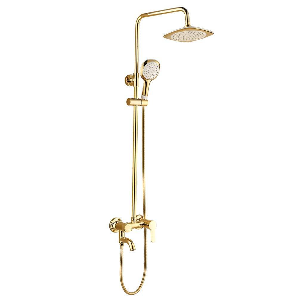 GFFXIXI Handbrause Europäische Luxus - Schwarzes Gold Dusche Jeden Kupfer VerGoldet Badezimmer Dusche Anzug