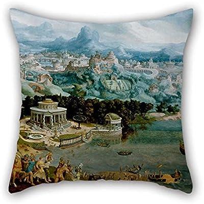 Amazon.com: Manta fundas de cojín de pintura al óleo Maerten ...