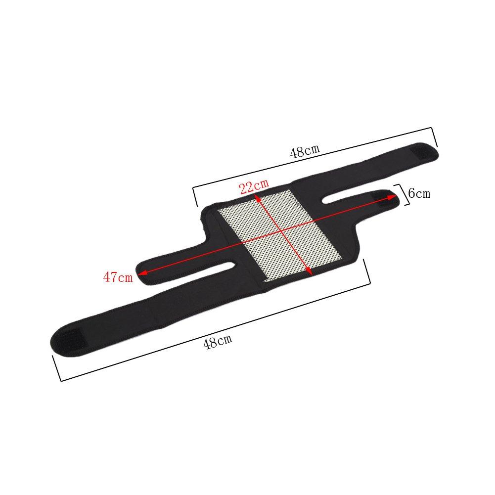 Soporte para la rodilla autocalentable Soporte de rodilla ajustable Terapia magn/ética Arthritis Brace Cintur/ón de protecci/ón
