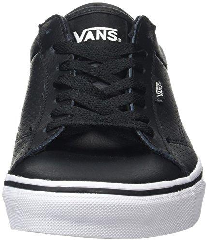 Vans Dawson, Zapatillas para Hombre Negro (Leather black/white)