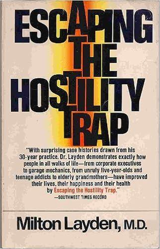 Escaping the Hostility Trap: Milton Layden: Amazon com: Books