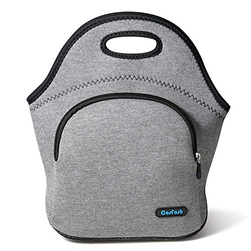 Cosfash Neoprene Lunch Tote Insulated Reusable Picnic Lunch Bags Boxes for Men Women Children Kid Adults Nurses (01-lunch bag) ()