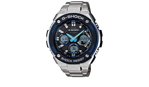 Casio G-Shock g-steel Esfera de color negro SS macho de cuarzo cronógrafo reloj gsts100d-1 a2: Casio - G-Shock: Amazon.es: Relojes