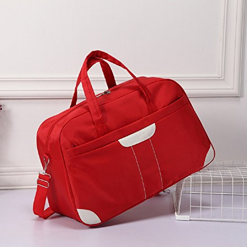 - Thanksgiving Gifts, Ecokaki(TM) Lightweight Nylon Ladies Shoulder Bag Tote Case Cover Handbag Hobo Bag Traveling Bag Gym Sports Duffel Bag, Red