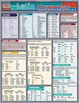Latin Grammar Quick Study Academic Inc Barcharts 0654614208354