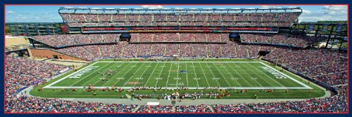 "MasterPieces NFL New England Patriots Stadium Panoramic Jigsaw Puzzle, 1000 Pieces, 13"" x 39"""