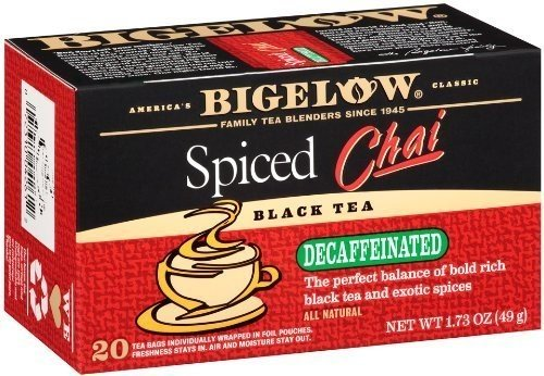 Bigelow Tea Decaf Chai Spiced 20 Bags (3 Pack)