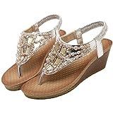 PU Fur Bohemia Slipslop Fashion Sandals Low Heel For Women Euramerican Crystal Y-Shaped 2.1in