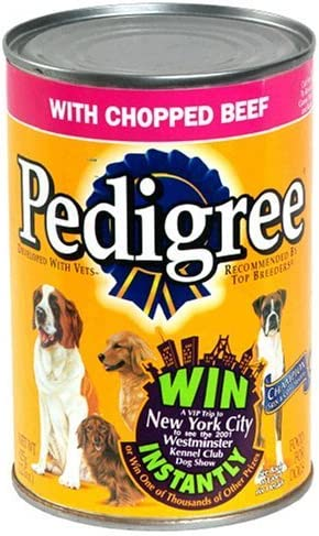 Pedigree Chopped Ground Dinner Dog Food – Beef – 22oz – 12pk – Beef – 22 oz