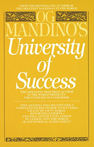 Books : Og Mandino's University of Success: The Greatest Self-Help Author in the World Presents the Ultimate Success Book