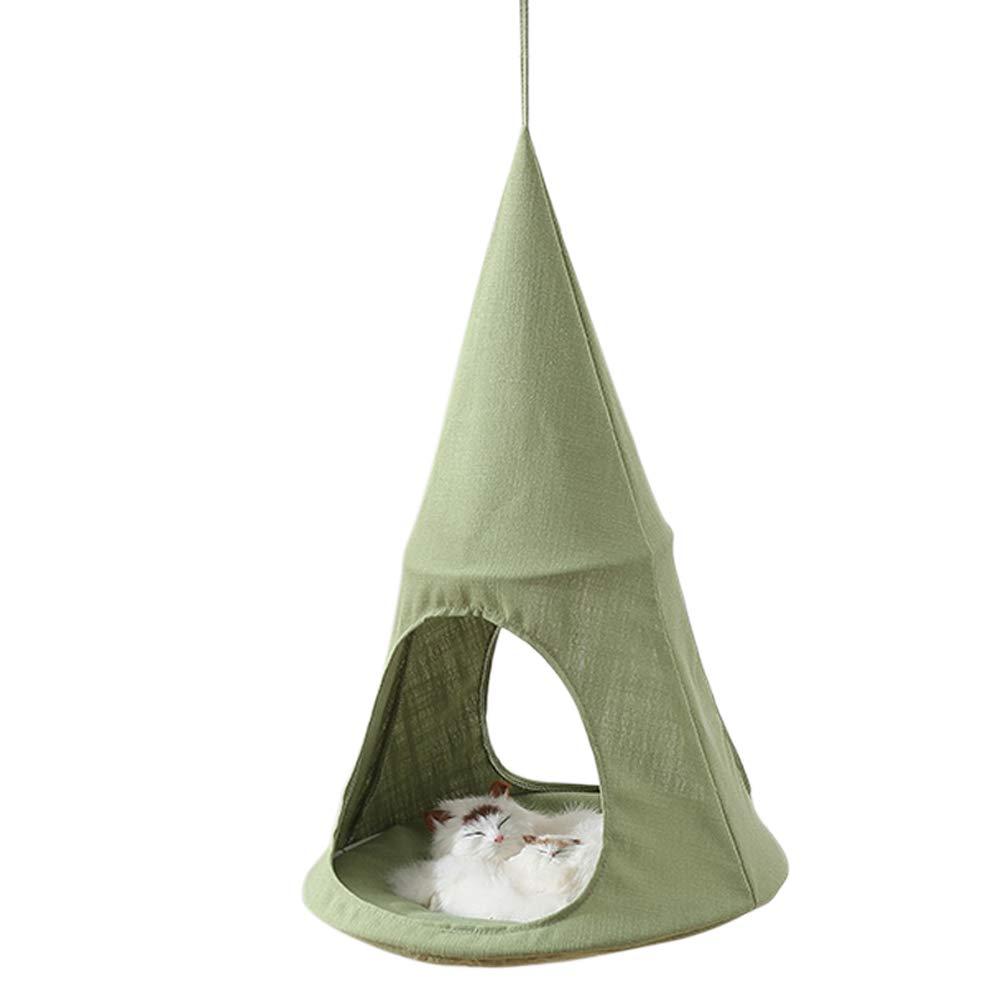 a Forma di Cono Amaca per Gatti Traspirante Confortevole con riposante Soleggiato Verde Alextry sospesa