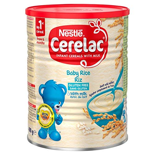 Nestle Cerelac, Rice with Milk, 14.11-Ounce Can