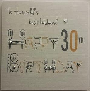 Happy Birthday Card Husband 30th Birthday Handmade Card Amazon