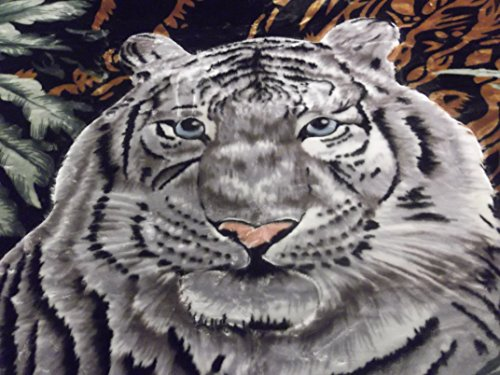Super Soft Korean Mink Style Blanket King White Tiger