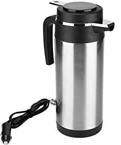 Yosoo Health Gear Car Electric Cup, Stainless Steel Travel Heating Cup, Vacuum Insulated Heated Travel Mug Electric Kettle 1200ml (24V)