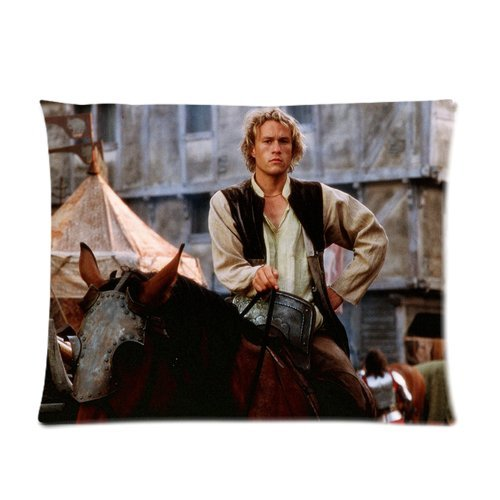 Hit Heroes Movie Series Personalized Custom Soft Soft Pillow Case Cover 20X26 (One Side) -Knights Tale William Heath Ledger Riding War Horse Pillowcase
