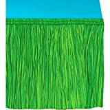 Tropical Summer Beach Picnic Table Decoration, 1 Piece, Made from Paper, Green, 50 feet by Amscan