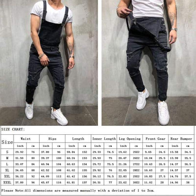 QMGLBG XXXL rozmiar/modne spodnie jeansowe męskie rozrywane kombinezon kombinezon: Küche & Haushalt