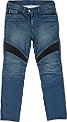 12oz Heavy duty denim - Kevlar reinforced in the seat, hip & knee panels - Aramid fibers are a class of heat-resistant synthetic fibers, used in aerospace and military applications, for ballistic rated body armor fabric and ballistic comp...