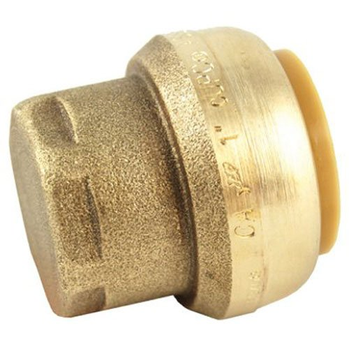 SharkBite U520LFA End Cap Plumbing Fitting, 1 Inch, PEX Fittings, Push-to-Connect, Coupler, Copper, CPVC (Cap Copper Pipe)