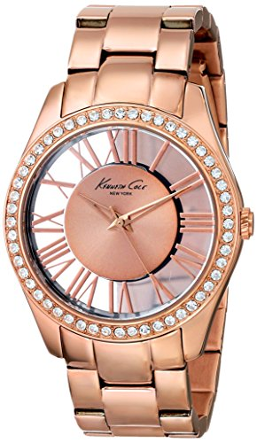 Kenneth Cole New York Women's Japanese Quartz Stainless Steel Case Stainless Steel Bracelet Gold,(Model:KC4852)