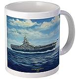 CafePress USS Intrepid, CV-11, 1945 Mugs Unique Coffee Mug, Coffee Cup