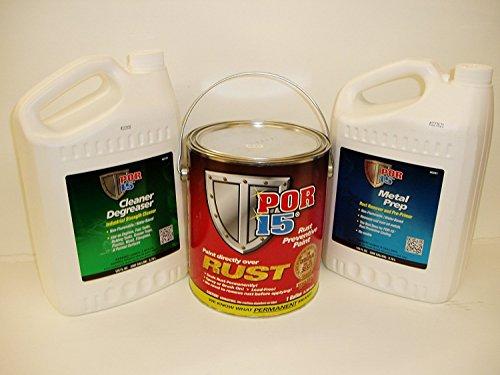 Por-15 Semi-gloss Black 3 Gallon Rust Preventative Paint Kit ()