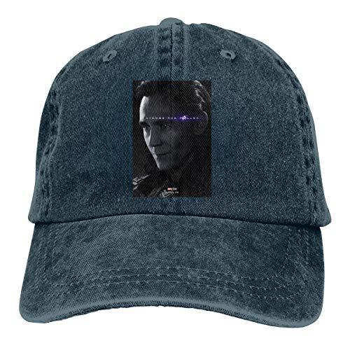 LinGing Personalized Printing Breathable Dad-Hat Avengers Loki Cool Baseball Cap Navy