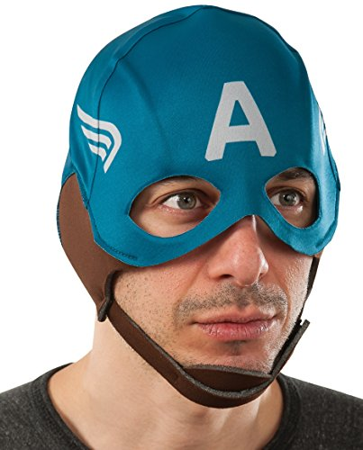 Adult Mask Captain America (Rubie's Costume Men's Marvel Universe Captain America Winter Soldier Retro Mask, Multicolor, One)