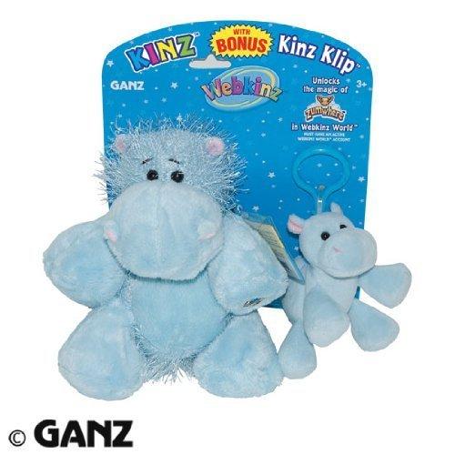 Webkinz Plush Hippo & Kinz Klip Combo by Webkinz