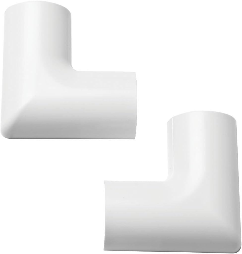 Clip-/über Biegung flach 30 x 15 mm wei/ß 2