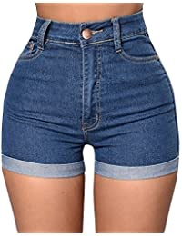 Women's High Waist Stretch Denim Shorts