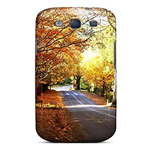 Slim Fit Tpu Protector Shock Absorbent Bumper Autumn Paradise Case For Galaxy S3