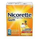 Nicorette 2mg Nicotine Gum to Quit Smoking - Fruit