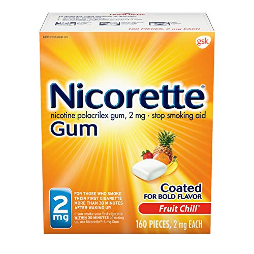 Nicorette Nicotine Gum Fruit Chill Stop Smoking