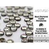 Lana's Magic Diamante HQ Black Diamond Crystal Hot Fix Rhinestones (SS10 - ø3mm in Diameter) min 80 Pieces, Buy 5 Bags or more in a Single Transaction, Get 1 Bag FREE