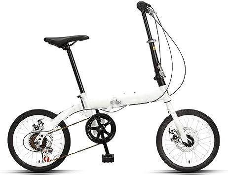 YLJYJ Rueda de 16 Pulgadas Bicicleta Plegable Bicicleta de Ciudad Amortiguación Bicicleta para Mujer Bicicleta de montaña compacta Mujer para desplazamientos (Color: Negro-Velocidad Variable): Amazon.es: Deportes y aire libre