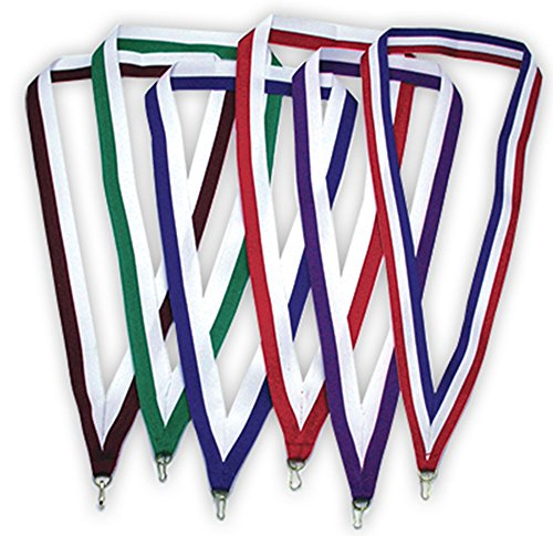 Medal Ribbon - PinMart Multi-Color Striped Award Neck Ribbons - Select Your Color and Qty