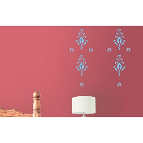 Buy Asian Paints Royale Play Wall Fashion Bouquet Stencilwall