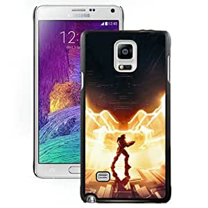 Fashionable Samsung Galaxy Note 4 Case ,Unique And Lovely Designed Case With Halo 4 Master Chief Black Samsung Galaxy Note 4 Cover Phone Case