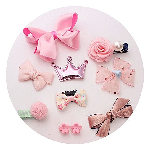 10pcs Hair Clips for Baby Girls Kids Toddler Cute Bowknot Crown Hair Barrette Hairpin Headdress Bows Accessories for Photography Pops Costume Party Birthday Gift (Toddler Crocodile Costume)