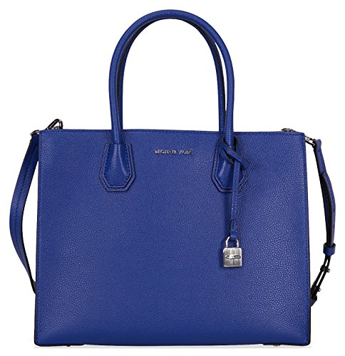 Michael Kors Mercer Large Bonded Leather Tote - Electric Blue by Michael Kors (Image #3)