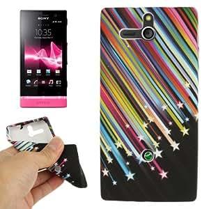 Rocina - Carcasa blanda de TPU para Sony Xperia U/ St25i con diseño de estrellas multicolor