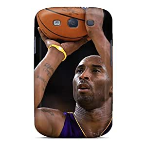 Particular Turning Scratch-free Phone Case For Galaxy S3- Retail Packaging - Kobe Bryant Celebrities