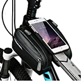2 in 1 Cycling Frame Bag & iPhone 7/iphone 7 plus Protection Case, Head Tube Bag, Front Top Tube Frame Pannier Double Bag Pouch Holder Crossbar Bag Cell Phone Bag for multi-cellphone bag