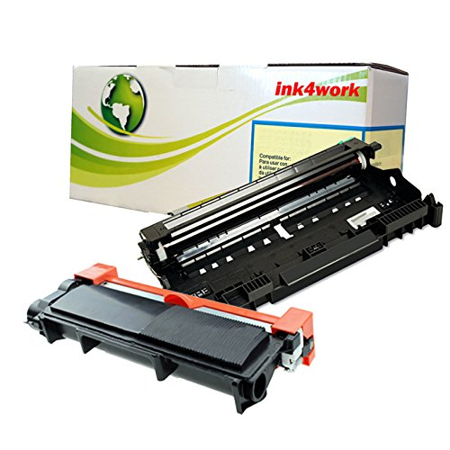 Ink4work© DR630 Drum & TN660 (TN-660) High Yield Compatible Toner Cartridge Combo Fits Brother HL-L2300D, HL-L2320D, HL-L2340DW, HL-L2360DW, HL-L2380DW, MFC-L2700DW, MFC-L2720DW, MFC-L2740DW, DCP-L2520DW, DCP-L2540DW (DR630 Drum + TN660 Black Toner)